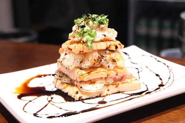 tempura en wijn