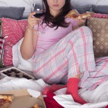 wijn en pizza